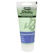 PEBEO STUDIO ACRYLIC PHOSPHORESCENT GEL 100ML GREEN