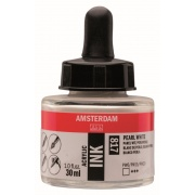 AMSTERDAM ACRYLIC INK 30 ml - PEARL WHITE