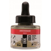 AMSTERDAM ACRYLIC INK 30 ml - PEWTER