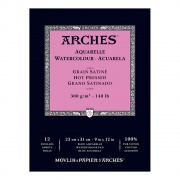 BLOK AKWARELOWY ARCHES 23X31 300G 12 HOT PRESSED NATURAL WHITE