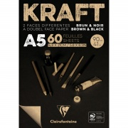 Clairefontaine blok klejony Black&Brown KRAFT A5 60ark. 90g