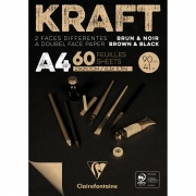 Clairefontaine blok klejony Black&Brown KRAFT A4 60ark. 90g