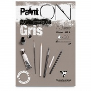 "Clairefontaine blok klejony ""Paint On Gris"", A3, 30 ark. 250g"