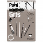 "Clairefontaine blok klejony ""Paint On Gris"", A5, 30 ark. 250g"