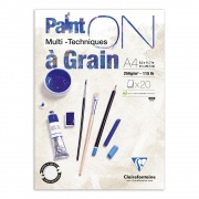 "Clairefontaine blok klejony ""Paint On a Grain"", A4 20ark. 250g /4"