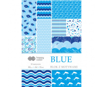 HAPPY COLOR BLOK Z MOTYWAMI - BLUE A4