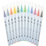 KURETAKE ZIG CLEAN COLOR REAL BRUSH 12 SZT. Cienkopisy