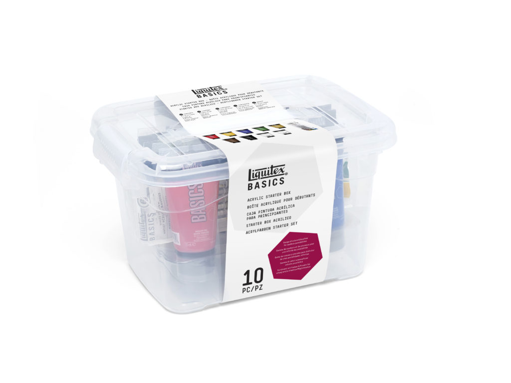 LIQUITEX BASICS ACRYLIC COLOUR STARTER BOX SET