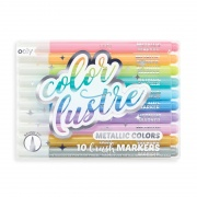 OOLY COLOR LUSTRE - 10 BRUSH MARKER. METAL. PASTEL