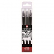 SAKURA PIGMA PEN BLACK SET 3 SZT