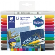 STAEDTLER DESIGN JOURNEY FLAMASTRY DO TKANIN 12 K