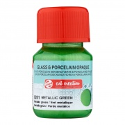 TALENS G&P OPAQUE 30ML METALLIC GREEN